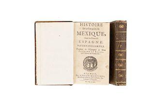 Solís, Antonio de. Histoire de la Conquête du Mexique ou de la Nouvelle Espagne par Fernand Cortez. La Haye, 1692. 2 ed. Pzs: 2.