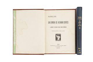 Fernández del Castillo, Francisco / Toro, Alfonso. Obras sobre Hernán Cortés. Piezas: 2.