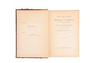Cuevas, P. Mariano. Cartas y Otros Documentos de Hernán Cortés Novísimamente Descubiertos en el Archivo General... México, 1915.