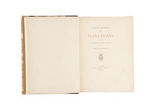 Zaragoza, Justo - Suárez de Peralta, Juan. Noticias Históricas de la Nueva España. Madrid, 1878. Primera edición impresa.