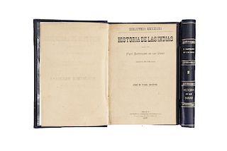 Casas, Bartolomé de las. Historia de las Indias. México: Imprenta y Litografía de Ireneo Paz, 1877.