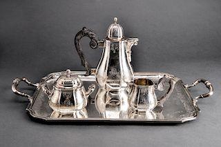 Belle Epoch Continental Silver Tea Service, 4 Pcs.