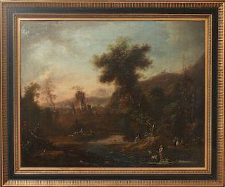 Illegibly Signed Old Master Italian Landscape Oil