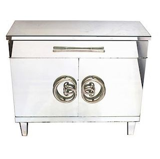 Hollywood Regency Mirrored Commode