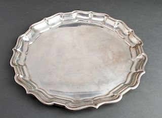 """Reed & Barton Silver """"Chippendale"""" Salver Tray"""
