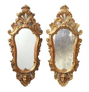 Italian Baroque Style Gilt-Wood Mirrors, 19th C.