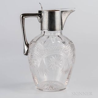 Edward VII Sterling Silver-mounted Cut-glass Claret Jug
