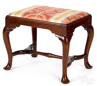 Queen Anne walnut stool