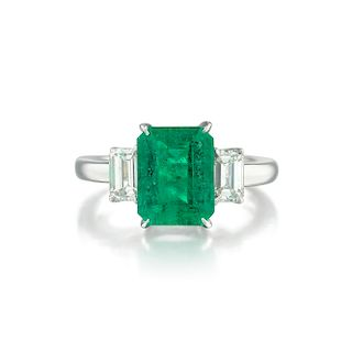 A 2.34-Carat Emerald and Diamond Ring