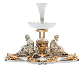 Monumental Neoclassical style figural centerpiece