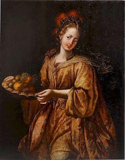 Italian School, oil, portrait of a noblewoman