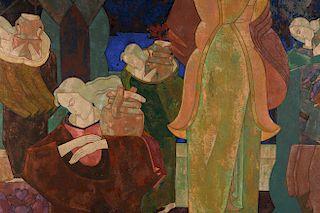 Karoly Fulop, tempera, The Water Bearers