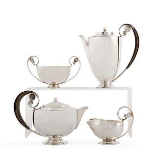 Johan Rohde Georg Jensen silver tea coffee set 321A
