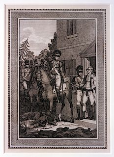 The American General Lee taken Prisoner by Lieutenant Colonel Harcourt of the English Army, in Morris County, New Jersey [1776]  Lin...