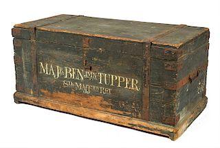 CAMP CHEST OF MAJOR BENJAMIN TUPPER, 8TH MASSACHUSETTS REGIMENT, 1775   Benjamin Tupper (1738-1792) turned out during the Lexington ...