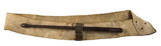 BRITISH DRUM SLING,CIRCA 1775   This rare example of a British drum sling or belt is of a form used to support a field or snare drum...