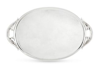 A Danish silver tray, Holger Rasmussen