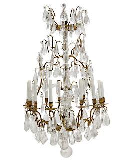 A Louis XV style twelve light chandelier