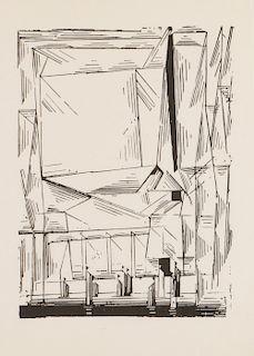 """Lyonel Feininger (1871-1956) """"Gelmoroda"""""""