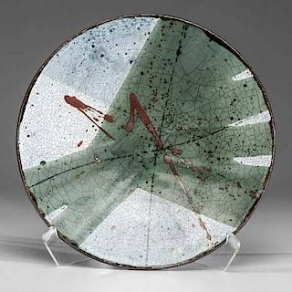 Albert Green (1914-1994; USA) Large Circular Green Platter