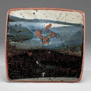 Albert Green (1914-1994; USA) Blue Square Plate