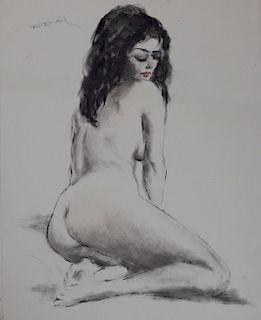 Pál Fried - Untitled (Nude, Black and White V)