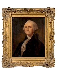 After Gilbert Stuart (19th Century) Portrait of George Washington