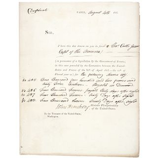 JOHN ARMSTRONG,1805-Dated, Document Signed