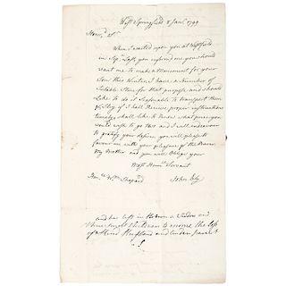 Sculptor JOHN BLY, Autograph Letter Signed