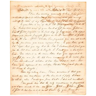 Scarce 1851 HENRY CLAY Financial Related Autograph Letter Signed
