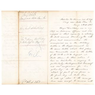 1863 General ABNER DOUBLEDAYs Civil War Letter Telling of His Brothers Heroism