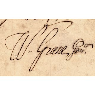 (WILLIAM ELLERY, JR.) 1757 Rhode Island Naval Appointment