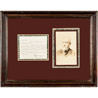 BENJAMIN HARRISON Autograph Legal Document Signed and Display Framed