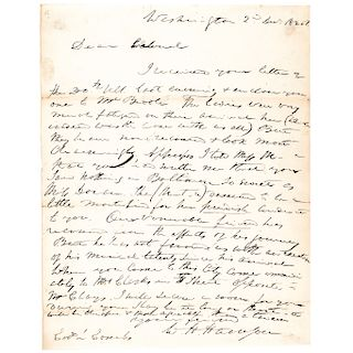 Scarce 1826 WILLIAM HENRY HARRISON Autograph Letter Signed