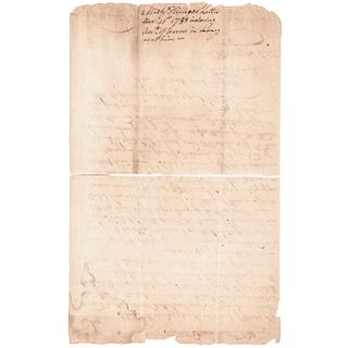 1780 MICHAEL HILLEGAS Signed Letter as First U.S. Continental Congress Treasurer