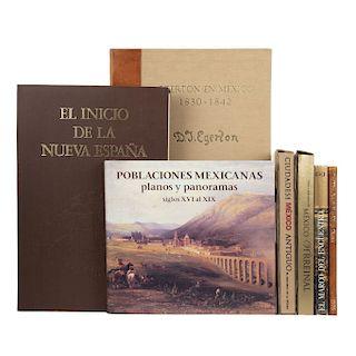LOTE DE LIBROS DE MÉXICO ANTIGUO Y LA NUEVA ESPAÑA. a) Fernández, Miguel Ángel. El Marco del Encuentro. México:...