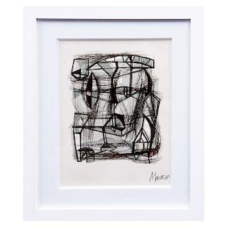 GABRIEL MACOTELA. Sin título. Firmada. Serigrafía sin tiraje. Enmarcada. 27 x 20 cm