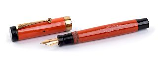 Vintage 1927/1930 Fountain Pen Parker Duofold Laquer-red