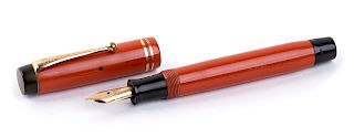Vintage 1929/1935 Celluloid Fountain Pen Parker Duofold Laquer-red