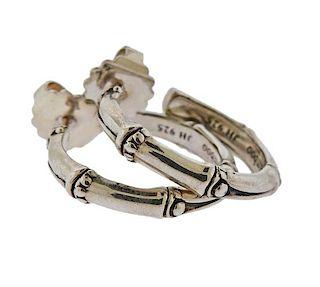 John Hardy Sterling Silver Bamboo Half Hoop Earrings
