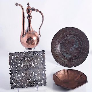 COLLECTION OF DECORATIVE COPPER HOMEWARES