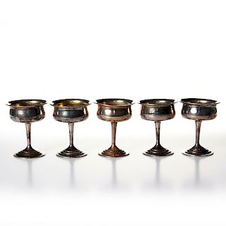 6 WEBSTER COMPANY STERLING SILVER CUPS