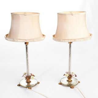 PAIR OF VICTORIAN STYLE LAMPS