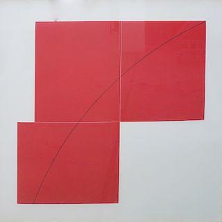 Robert Mangold (American, b. 1937) Color Lithograph