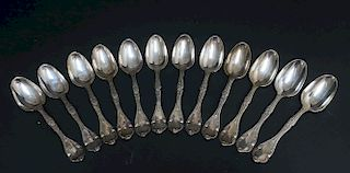William Gale & Sons Coin Silver Table Spoons
