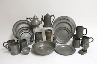 Collection Antique Pewter
