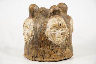 "Fang Ngongtang 4-Faced Helmet Mask 10.5"""