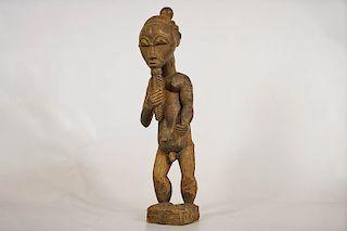 "Standing Baule Male Figure 21.5"""