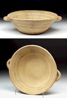 Greek Mycenaean Pottery Plate w/ Handles