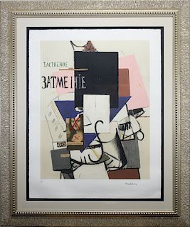 Kasimir Kazimir Malevich (1878 - 1935) Color Litho
